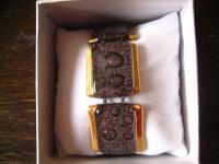 elegantes breites Armband braun gold NEU Kunsthandwerk Arts & Crafts Boho Unikat