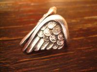 ausgefallener Engelsflügel Engel Statement Ring Designer Leonardi Arte silber