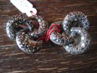 edle Art Deco Markasit Ohrringe Clips Knoten Details 925er Silber TOP Zustand