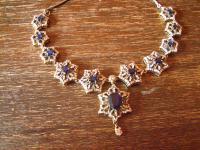 Kronjuwelen gesucht ? opulentes saphir zirkonia diamant Collier 925er Silber