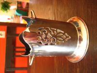 elegante Menage Flaschenhalter für kleine Flaschen Eiswein Essig Öl silber pl