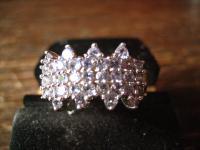 sehr edler moderner Designer Ring 925er Silber Pavée Steine zart blau himmelblau