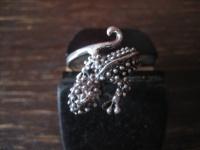 sehr schöner Gekko Waran Echse Ring 925er Silber neu vollplastisch 19 mm RG 60
