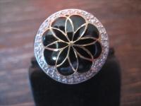 traumhafter vintage Designer Ring Cocktailring 925er Silber Emaille Zirkonia