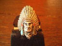 Herrenring Ring 925 Silber Indianer Häuptling Native Navajo Indianerschmuck G 62