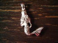 bezaubernder maritimer Anhänger Nixe Nereide Meerjungfrau 925er Silber Charm