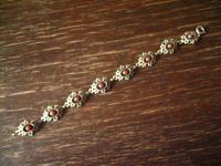 bezauberndes Trachten Armband 835er Silber rote Koralle passend zu Dirndl Kette