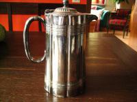 seltene kleine antike Teekanne Silberkanne Hot Water Pot silber pl Sheffield