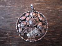 prächtiger Jugendstil Anhänger Rosenkorb 800er Silber Art Nouveau Pendant Roses