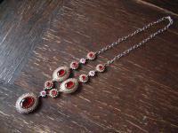 Kronjuwelen gesucht ? prächtiges rubin smaragd diamant Collier 925er Silber gold