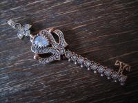 Kronjuwelen gesucht ? prächtiger Anhänger Schlüssel zum Herzen 925er Silber gold