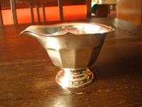 reizendes kleines Milchkännchen Sauciere originelle Jardinere silber Sheffield