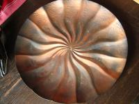 sehr dekorative riesige Kupferschale Kupferteller Schale Teller Obstschale Anbietschale 39 cm