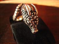 exklusiver schwerer Drachen Ring Drache Markus Meyer et Nox Gothic deluxe 925er Silber