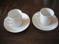 Konvolut 2 Stück Mokkatasse Espressotasse Fürstenberg Herzog Ferdinand weiß
