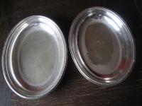 elegante Servierschale Schale Haube Deckel 2 Schalen silber pl Mappin & Webb