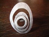 klassischer Statement Ring mit Pfiff Designer Leonardi Arte silber verstellbar