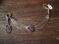 antike Uhrenkette Charivari Chatelaine Adel Wappen Habsburg Lothringen Emaille