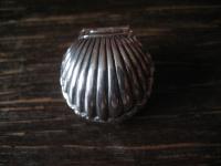 reizvoller maritimer Medallion Anhänger Muschel zum Öffnen Perle 925er Silber
