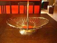 eleganter großer Obstkorb Früchtekorb Obstschale Tafelaufsatz mit Henkel silber