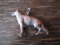 starker Anhänger Deutscher Schäferhund Hund 835er Silber vollplastisch massiv