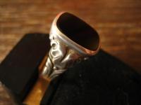 stilvoller Art Deco Herrenring Siegelring 925er Silber Onyx Ring 20 mm RG 63