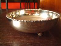 eleganter antiker Tafelaufsatz Silberschale Obstschale Schale Schüssel silber pl