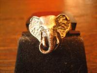 toller Elefantenring Elefant Elefanten Ring 925er Silber plastisch RG 20, 6 RG 65