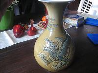 Ausgefallene Drachen Vase Drache sig Lladro Lladró Porzellan 26 cm hoch
