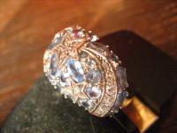 Sternschnuppe Stern vintage Designer Ring Cocktailring 925er Silber Topas Zirkon