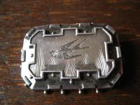 feine Jugendstil Brosche Schwalbe als Liebesbote 900er Silber reine Handarbeit