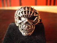 mächtiger Biker Ring Totenkopf Dämon Spinne Skull 925er Silber RG 63 Gothic