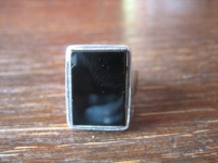 moderner eleganter statement Designer Ring 925er Silber Onyx 16, 75 mm RG 53 / 54