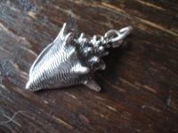 kleiner maritimer Anhänger Muschel Schneckenhaus Tritonshorn 925er Silber NEU