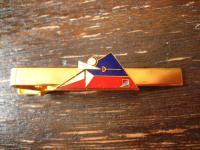 vintage Sport Krawattennadel Krawattenklemme Fechten Soccer Emaille gold ausgefallen