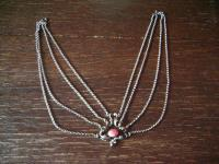 prächtige Kropfkette Trachten Kette Collier Dirndl 835er Silber an 4 Erbsketten