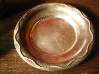 elegante große Silberschale Tafelaufsatz Schale Teller silber pl Barker Ellis
