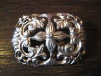 Art Deco Trachtenschmuck Brosche Silberbrosche wunderschön verziert 935er Silber
