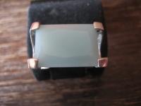 moderner Designer Ring 925er Silber großer Stein türkis ausgefallener Schliff