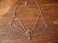 reizvolles antikes Trachten Dirndl Granat Collier Kette 835er silber Erbskette
