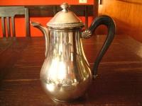 stilvolle Teekanne Silberkanne schöne nostalgische Form tolle Shabby Chic Deko