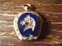 antiker Glücksbringer Hufeisen Pferdekopf Anhänger Reiter Pferd Jakob Bengel