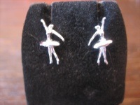 reizende Ohrringe Stecker Ohrstecker 925er Silber Ballerina Ballett Tänzerin NEU