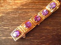 exquisites Art Deco Armband gold 925er Silber Amethyst allerfeinste Qualität