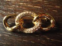 herrlich elegante Vintage Brosche gold Strass original Christian Dior signiert
