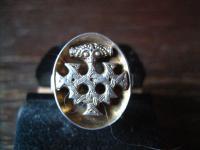 original Hiddenseeschmuck Thorhammer Ring Hiddensee Wikinger 800er Silber antik