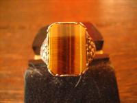 Prächtiger Art Deco Herrenring Siegelring 800er Silber Tigerauge 18, 5 mm RG 59