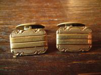 klassische wunderschön verzierte Art Deco Manschettenknöpfe Gelbgold Gold Doublé