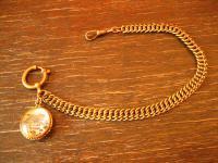 schöne Jugendstil Uhrenkette für HTU Medallion Anhänger St. Bartholomä Königsee