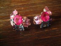 original Thomas Sabo Vintage Ohrringe Clips 925er Silber Farbsteine Ohrclips